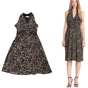 Evan Picone Marilyn Halter Dress Leopard Print